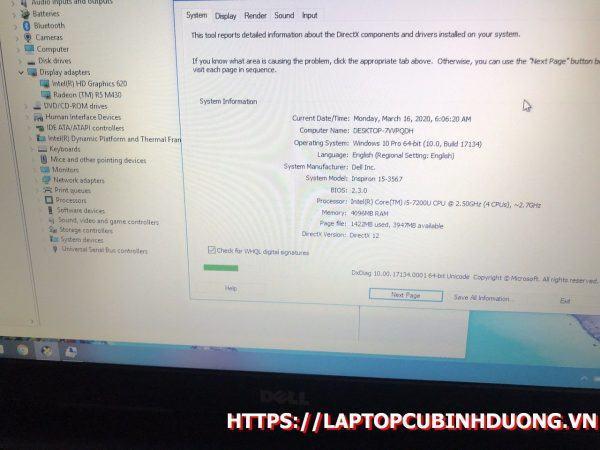 Laptop Dell N3567 I5 7200u 4g Ssd 256g Amd Radeon ẹ Laptopcubinhduong.vn 3 [kích Thước Gốc] Result