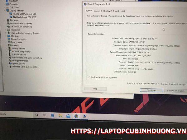 Laptop Asus G531 I7 9750hq 8g M2 512g Nvidia Gtx1050 Laptopcubinhduong.vn 2 [kích Thước Gốc] Result