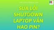 Shutdown Laptop Van Hao Pin